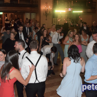 Molly and Quinn's wedding reception in the Marriott Syracuse Downtown Grand Ballroom, September 2017. Copyright Peter Naughton peterthedj.com